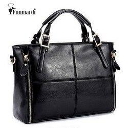 FUNMARDI bolsos de lujo Bolsos De Mujer bolsos de cuero dividido de diseñador Bolsos De Mujer bolsos de mano de marca bolsos de hombro de mujer WLHB974