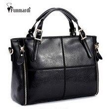 FUNMARDI lüks çanta kadın çanta tasarımcısı bölünmüş deri çanta kadın çanta marka en saplı çanta kadın omuz çantaları WLHB974