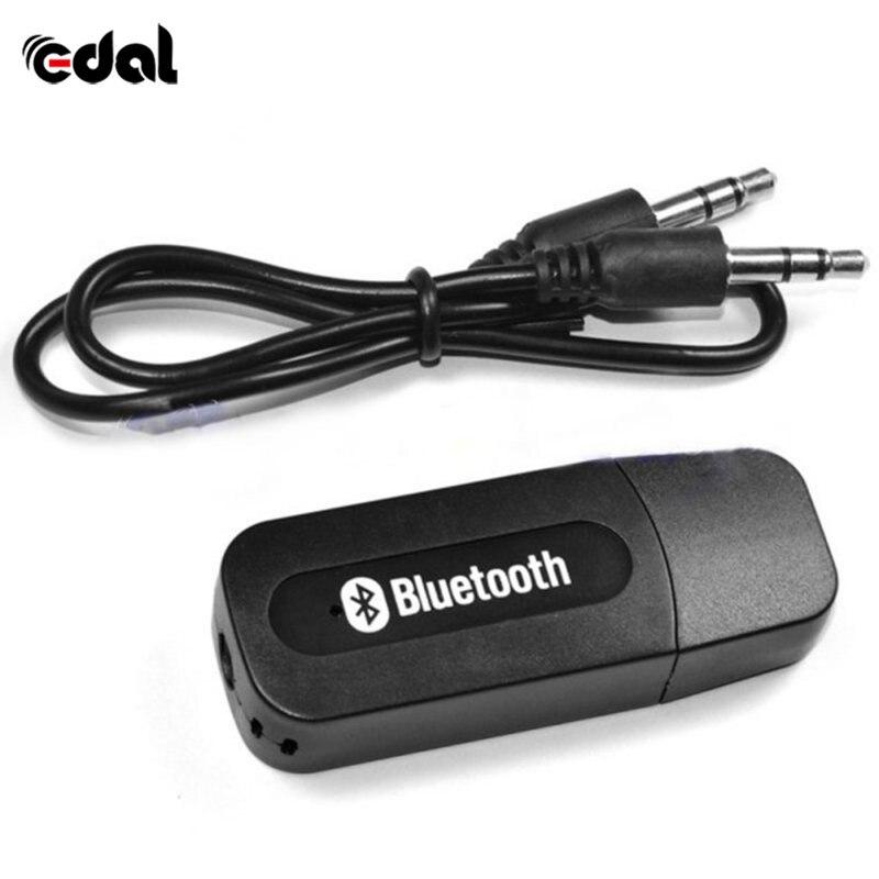 Portable Black USB Bluetooth Audio Music Receiver Wireless Adapter 3.5mm USB
