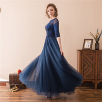 2018 Beautiful New Hot Vintage A Line Mother Of The Bride Dress Custom Made Half Sleeve Sequins Scoop Mother Of The Bride Gowns