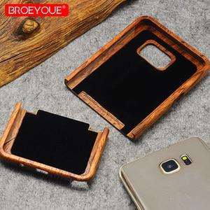 Image 5 - Volle Holz Fall Für Samsung Galaxy S6 S7 S8 S9 Rand Plus 100% Retro Natur Bambus Fall Für Samsung Galaxy hinweis 8 9 Für iPhone XR