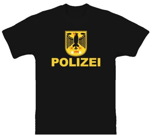 2019 Cool Police Logo Germany Polizei German Cool Black T Shirt Unisex Tee