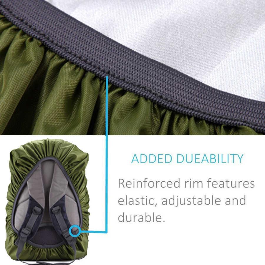 Regen Abdeckung Rucksack Reflektierende 20L 35L 40L 50L 60L Wasserdichte Tasche Camo Taktische Outdoor Camping Wandern Klettern Staub Regenschutz