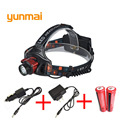 High Power 2300LM Cree xml T6 Headlamp Lights Head Lamp Rechargeable Fishing Hunting Headlight with 18650 Batteries
