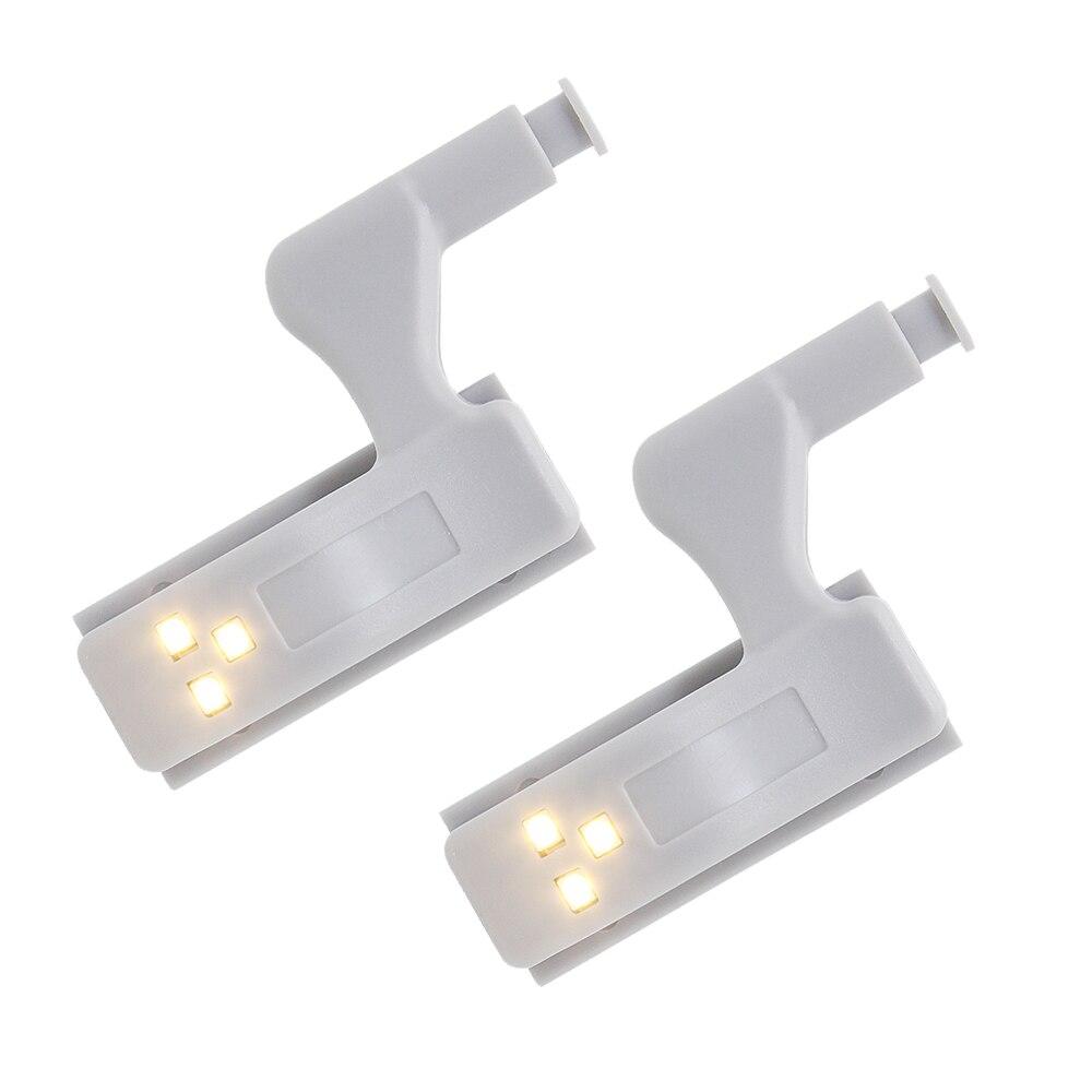 Hospitable 2 Pcs Universal Hinge Led Sensor Light Cabinet Lamp For Kitchen Closet Living Room Cupboard Wardrobe Door