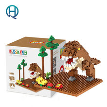 Mini Nano Blocks Dinosaur LOZ Building Blocks Tyrannosaurus Action Figure Diamond Blocks Compatible Legoelieds 9485