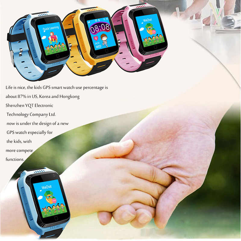 GPS Child Smart Watch With Camera Lighting Touch Screen Phone Location SOS Call Remote Monitor Pk Q50 Q90 Q100
