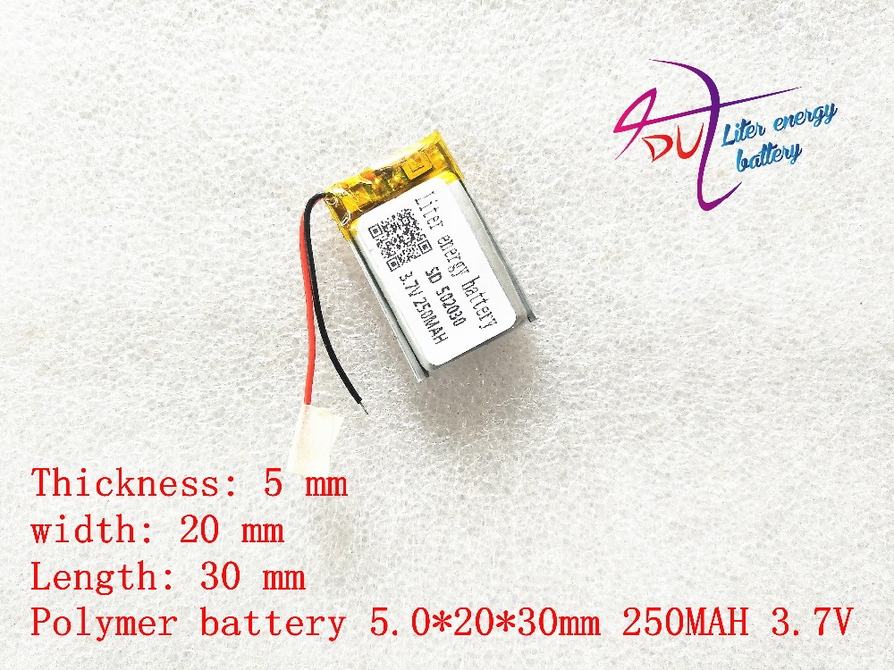 (free Shipping)502030 3.7V 250 Mah Lithium-ion Polymer Battery Quality Goods Quality Of CE FCC ROHS Certification Authority
