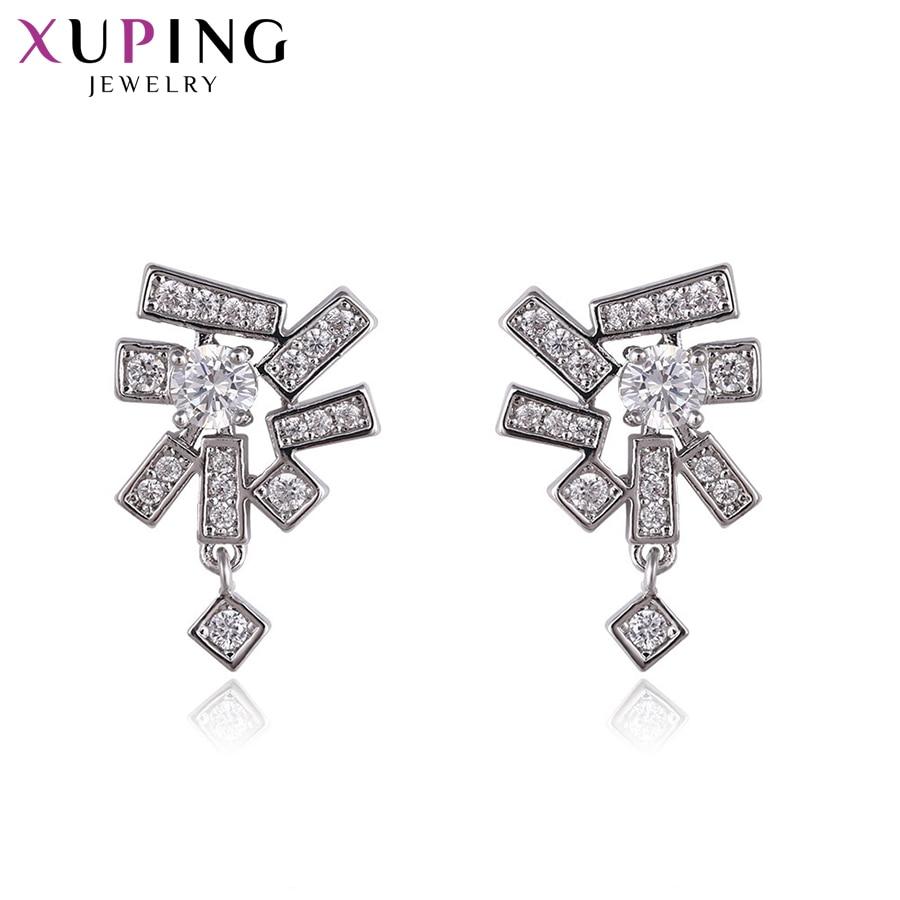 11,11 сделок Xuping ювелирные изделия Модные элегантные серьги с синтетических CZ для Для женщин Рождество подарок S58-93560