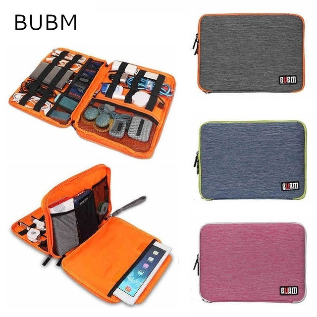 "2018 New Brand BUBM Storage Bag For ipad Air, Pro 9.7 inch, Digital Accessories Sleeve Case For 9"" Tablet, Free Drop Shipping"