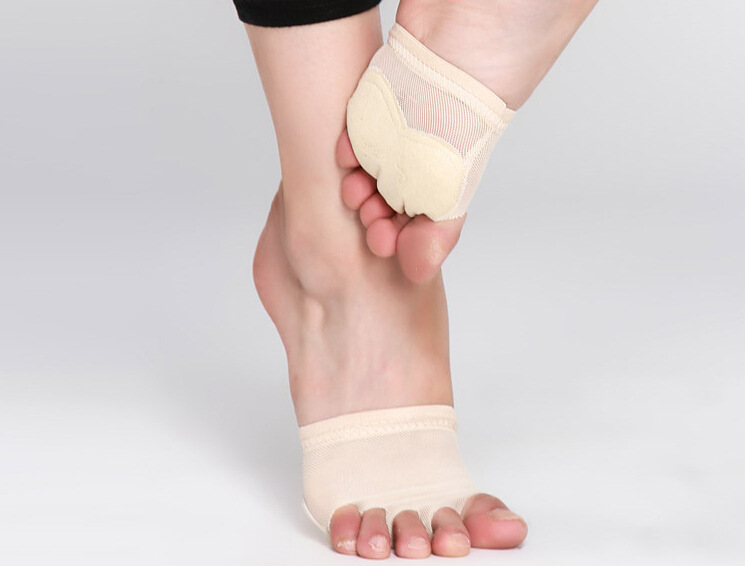 Professional Belly/Ballet Dance Toe Pad Practice Shoes Foot Thong Protection Dance Socks Costume Gaiters Accessories