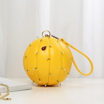 2018 Mini Leather Women Shoulder Bags Fashion Ladies Handbags Chain Green/Yellow Designer Crossbody Messenger Bags