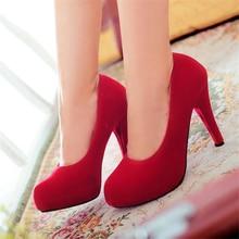 ปั๊มหนังใหม่44 43 42 41ของผู้หญิงรองเท้าสูงส้น11เซนติเมตรส้นเท้าบางรองเท้าผู้หญิงกับรองเท้าส้นขนาดEUR 34-45