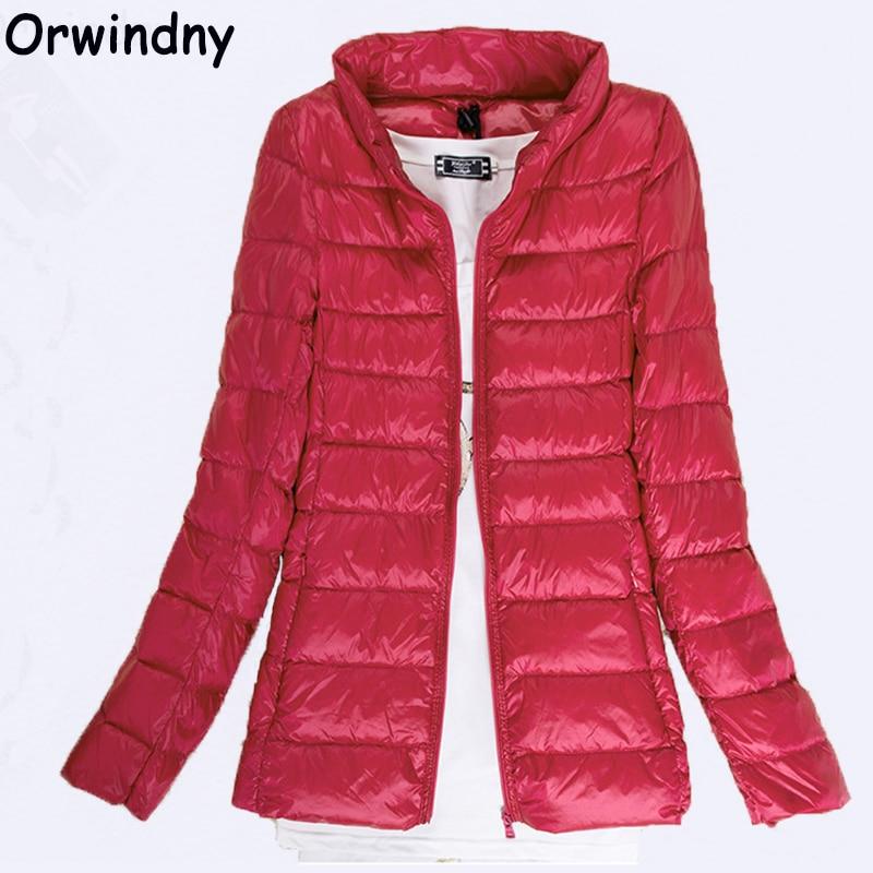 Orwindny   Down     Coats   Women Ultra Light   Down   Jacket New Autumn Winter White Duck   Down   Lightweight Parkas Warm Slim Thin   Coat