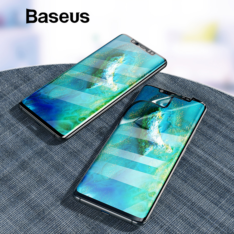 Baseus 2pcs 0.15mm Ultra Thin Screen Protector For Huawei Mate 20 Pro Soft Film Full Coverage Explosion Proof Protective FilmBaseus 2pcs 0.15mm Ultra Thin Screen Protector For Huawei Mate 20 Pro Soft Film Full Coverage Explosion Proof Protective Film