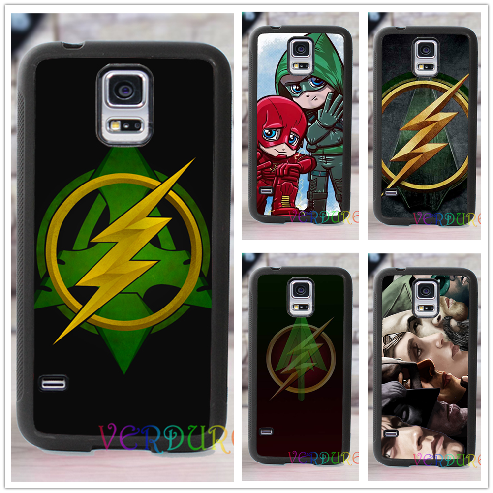 Pics photos batman logo evolution design for samsung galaxy case - Flash Arrow Symbol Fashion Cover Case For Samsung Galaxy S3 S4 S5 S6 S7 S6 Edge