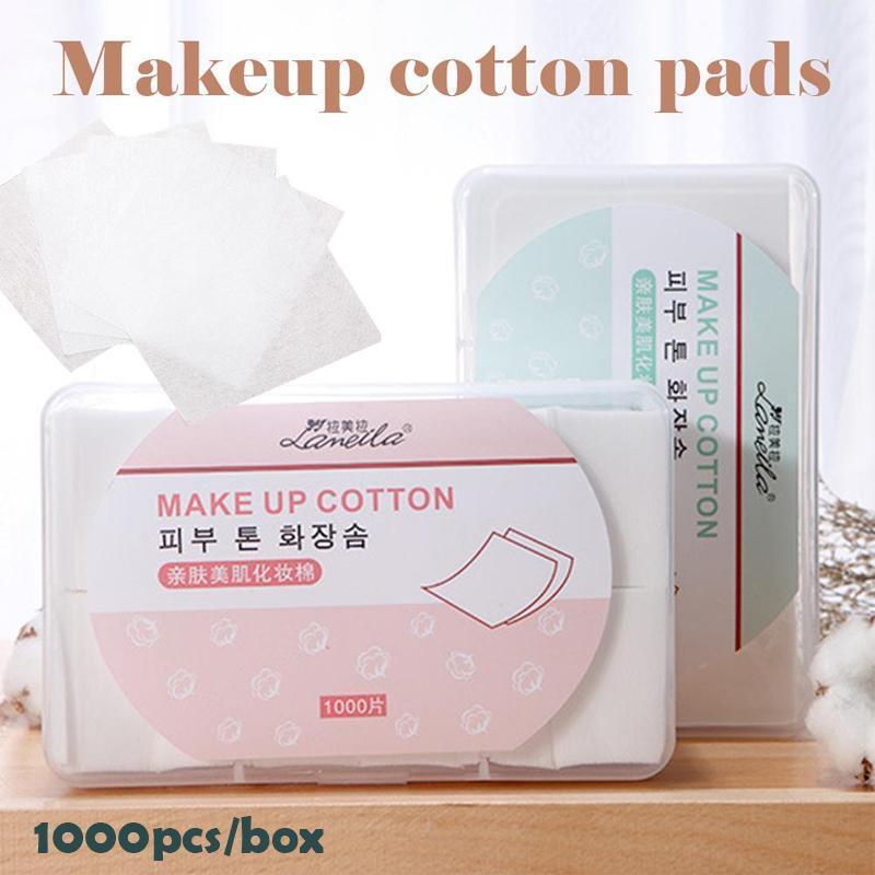 1000 teile/paket Make-Up Wipes Baumwolle Pads Einweg Entferner Weiche Polish Remover Reiniger Baumwolle Tücher Pads D3