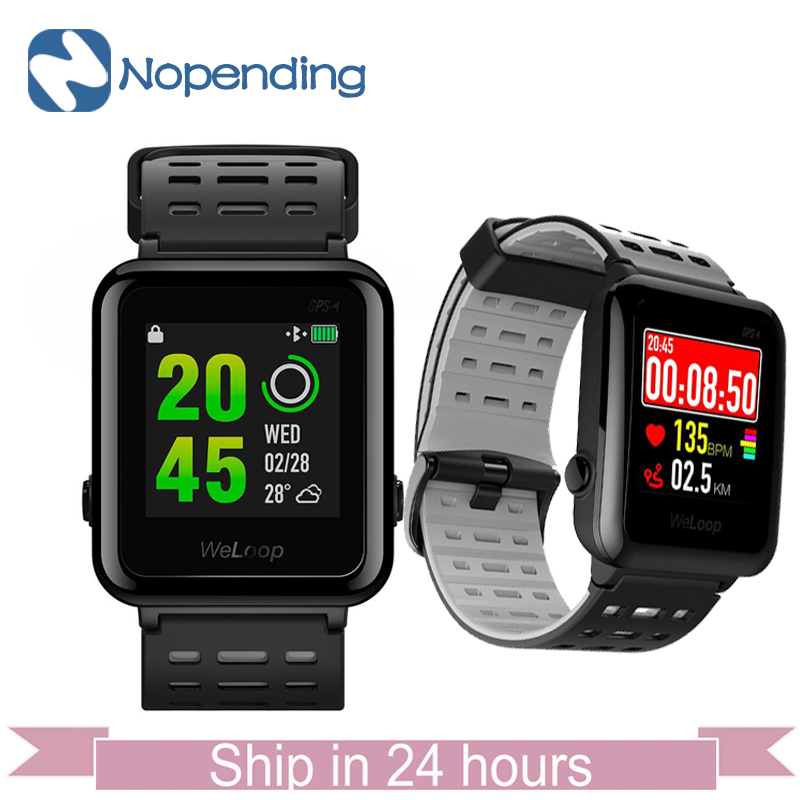 [Global Version] WeLoop Hey 3S Smartwatch Sports Smart Watch GPS/AGPS 50M Waterproof Bluetooth Heart Rate Sensor for Xiaomi MI5 все цены
