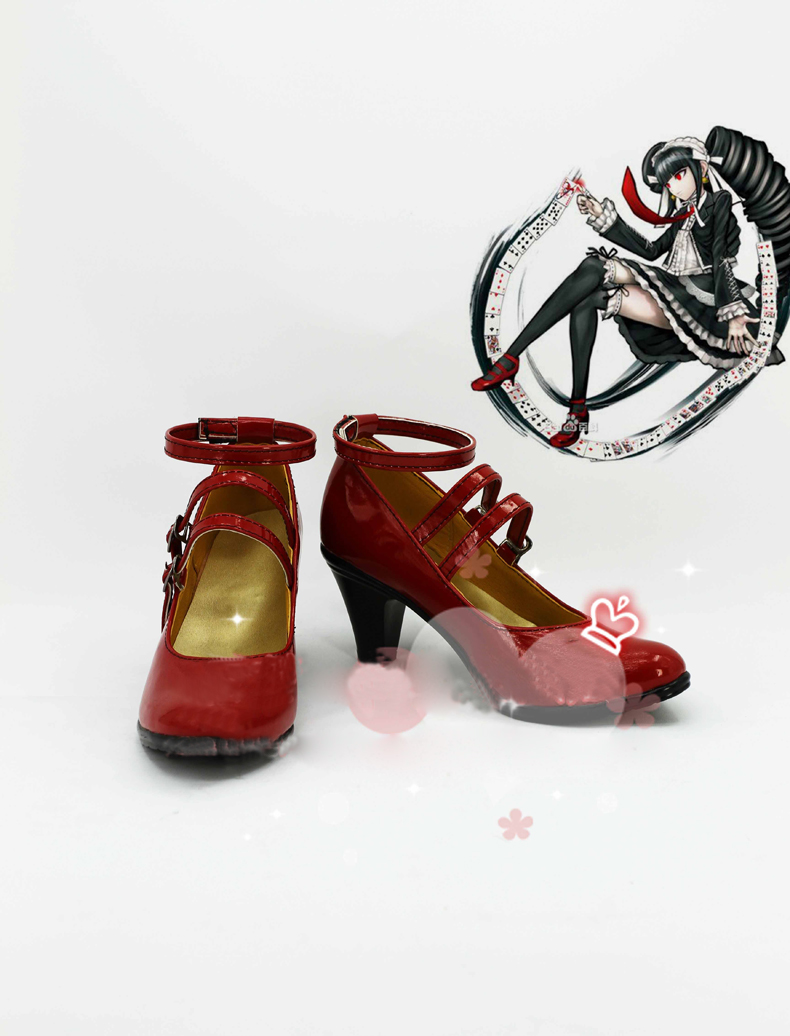 Super Danganronpa Dangan-Ronpa Celestia Ludenbeck Cosplay  Boots Costume Shoes Custom Made Halloween Free Shipping