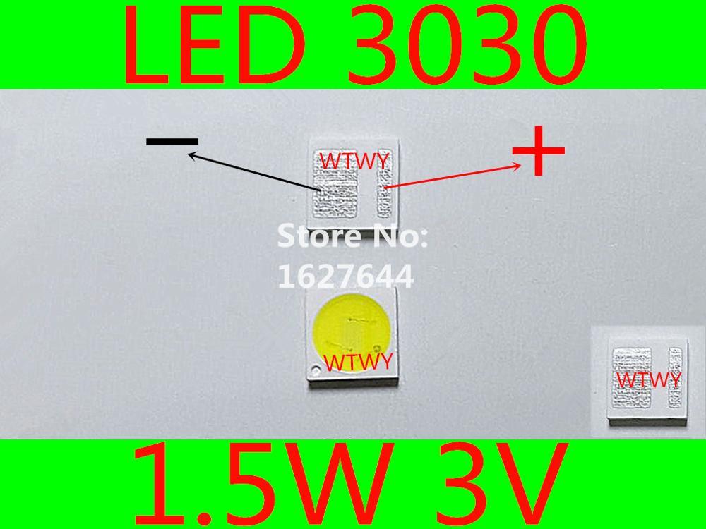 1000pcs Aot Led 3030 Led Tv Backlight High Power 1.5w 3v Led Backlight Cool White For Led Lcd Tv Backlight Application