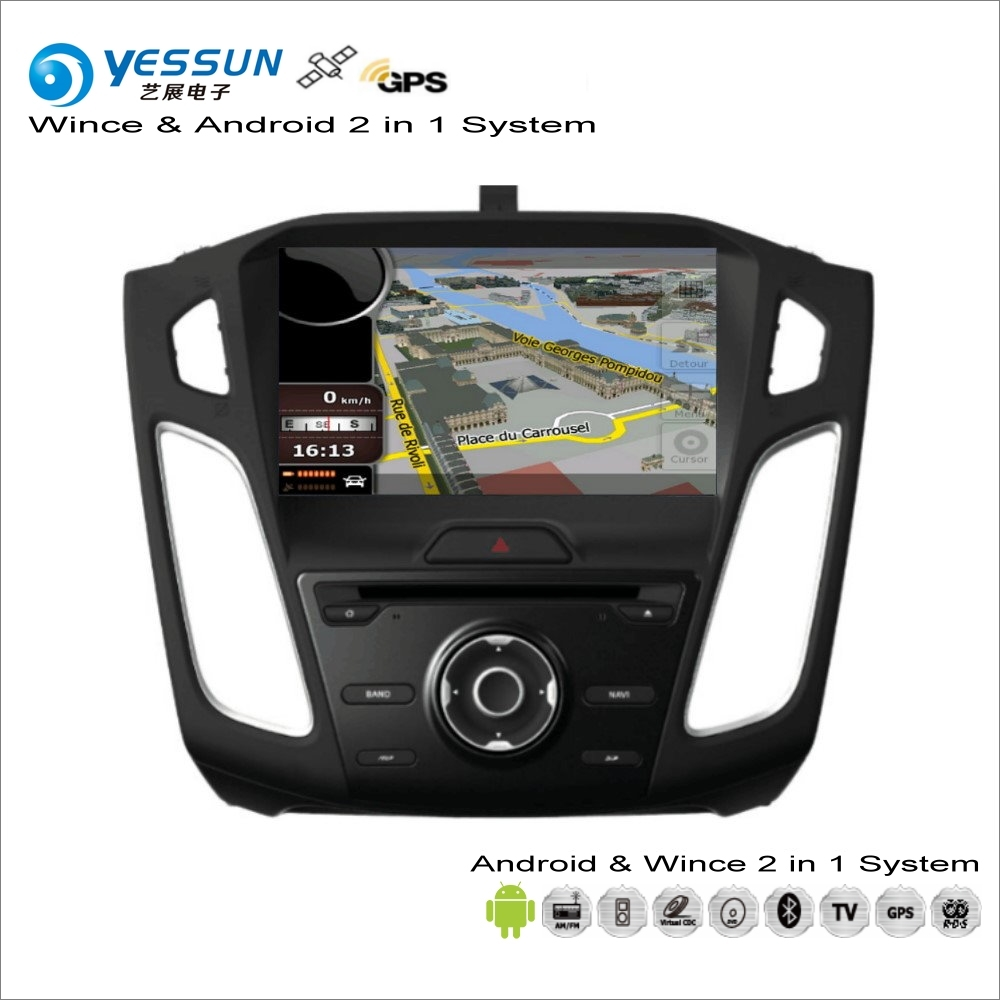 YESSUN For Ford For Focus 2015~2017 Car Android Multimedia Radio CD DVD Player GPS Navi Map Navigation Audio Video Stereo System