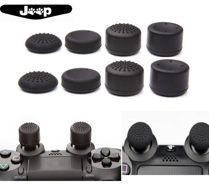 8 Soft Silicone Thumb Grips Thumbstick Joystick Extra High Enhance Cover Caps Skin For PlayStation 4 PS4 Slim Pro PS3 Xbox 360