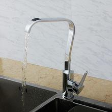 Superfaucet Латунь Однорычажный с Высоким Смеситель Для Кухни Хром, гибкие кухне кран, Смеситель Раковина с водопадом HG1301