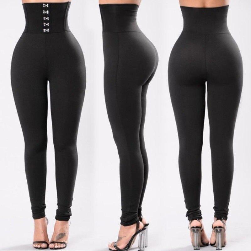 Women Office Pants 2019 New Sexy Pencil High Waist Leggings Slim Elegant Push Up Hips Female Elastic Trousers
