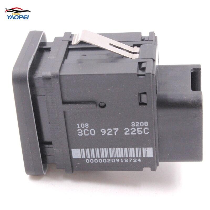 YAOPEI High Quality EPB Electronic Handbrake Parking Switch Brake Button For VW Passat R36 B6 C6 CC 3C0927225C