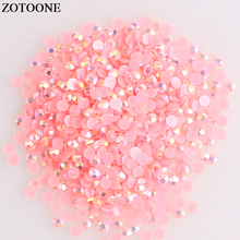 ZOTOONE Flatback Resin Nails Rhinestones For Mobile Phone DIY Stones Clothes Decoration Non Hotfix Strass Crystal Applique E