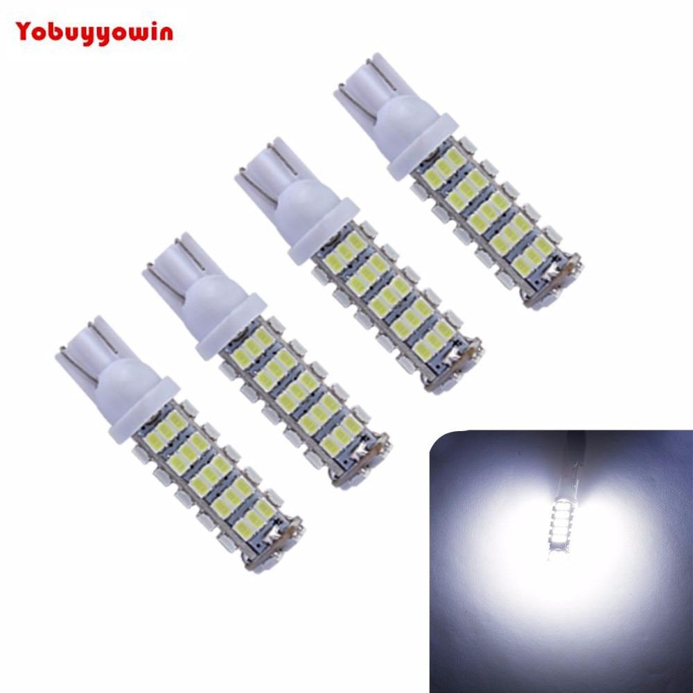 4 Lampada 68 <font><b>LEDS</b></font> super branca 6000K 12Volts para <font><b>farol</b></font> ou faroletes, placas, teto, porta-malas.