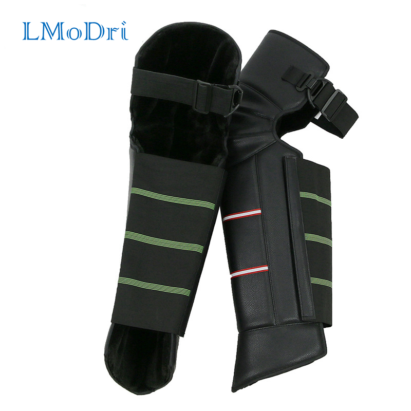 LMoDri Motorcycle Warm Kneepad Legs Warmer Motorbike Riding Protective Knee Pads Windproof Winter Outdoor PU Leather Waterproof