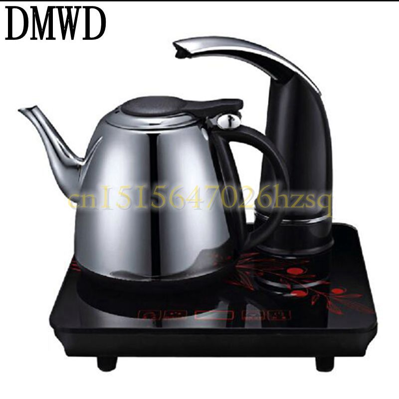 DMWD 220V 1000-1500W household Electric 304 stainless steel teapot with automatic add water electric kettle Dry proof dmwd split style stainless steel quick heating auto electric kettle hot water boiler tea pot heater teapot eu us plug 1800w 1 8l