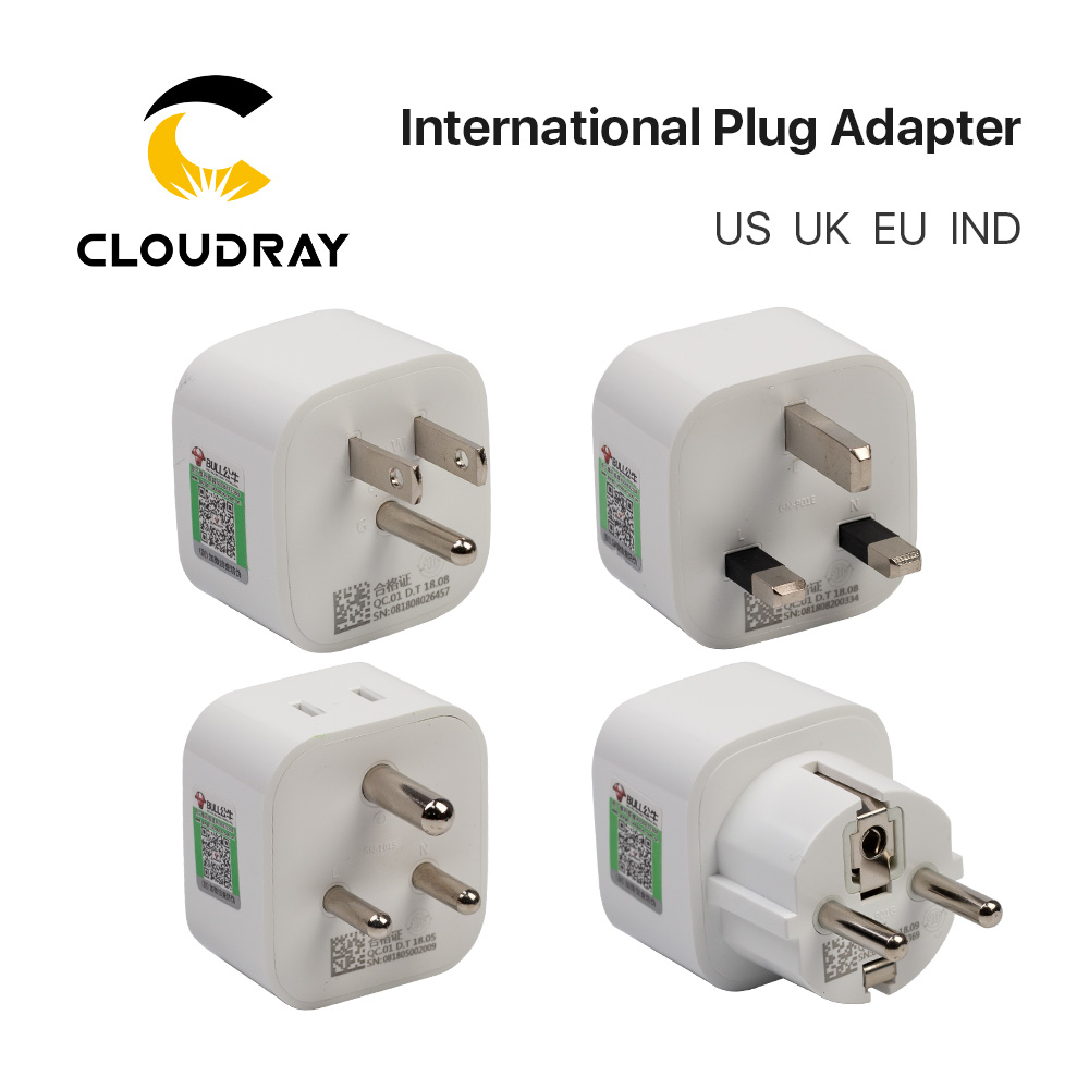 High Quality Practical Universal  US UK EU IND IT CN CH RSA Power Adapter Travel Plug Converter 2 Flat Pin