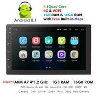 Car Radio Car Android 8.1 2Din Universal GPS Navigation Car Audio Stereo Car Multimedia Player For Nissan Hyund toyota KIA DAB+