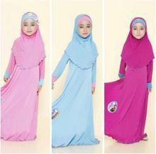 Tonlinkerラマダン伝統的な子供服のファッション子バヤイスラム教徒の少女ドレスアバヤイスラムビッグガール子供 3 個コスプレ