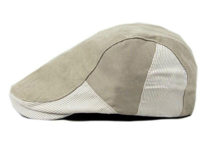 4c0489fad5 ᗚwhich in shower striped patchwork spring summer beret women men ...