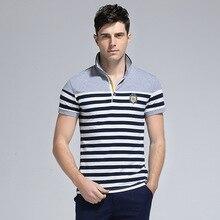 Men's Shirts New England Slim Polo shirt Man Cotton Striped Minimalist Trend Extended shirt M-4XL