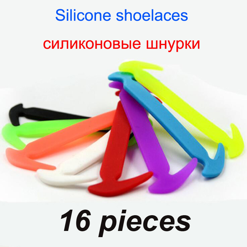 16 pcs/lot Elastic Silicone Shoelaces For Shoes Special Shoelace For All Sneakers Fit Strap Unisex No Tie Silicone Shoelace16 pcs/lot Elastic Silicone Shoelaces For Shoes Special Shoelace For All Sneakers Fit Strap Unisex No Tie Silicone Shoelace