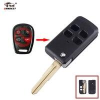 Dandkey 20x 4 Buttons Fob Flip Folding Remote Key Case Shell For KIA Sorento Optima Spectra Replacement Modified Key Shell