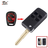 Dandkey 20x 4 Buttons Fob Flip Folding Remote Key Case Shell For KIA Sorento Optima Spectra Replacement Modified Key Shell