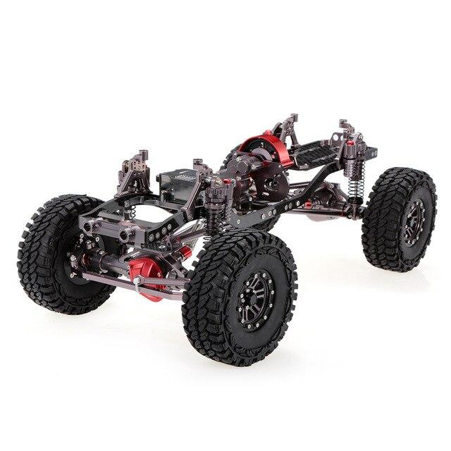 1/10 بارد سباق CNC الألومنيوم و الكربون إطار محوري SCX10 الهيكل 313 مللي متر قاعدة العجلات RC سيارة إطار