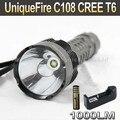 UniqueFire C108 CREE T6 1000LM 5-режиме СВЕТОДИОДНЫЙ Фонарик Факел + 4000 мАч 3.7 В 18650 Аккумулятор + Зарядное Устройство