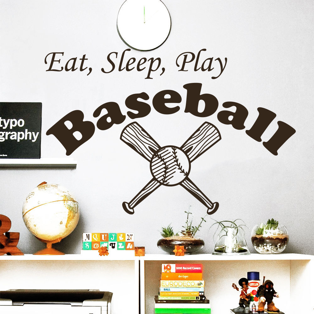 Popular Baseball Wall StickerBuy Cheap Baseball Wall Sticker Lots - Vinyl vinyl wall decals baseball