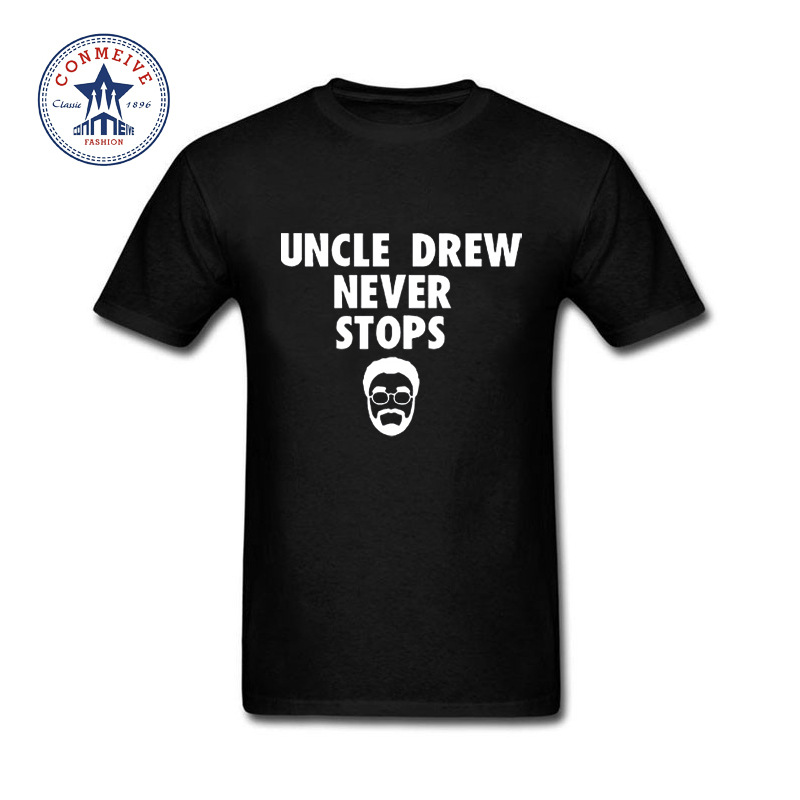 Hot Selling Funny Kyrie Irving wear T shirt Uncle Drew Funny Cotton T Shirt for men