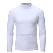 Men Casual Turtle neck Long sleeve Cotton Top T shirt man s T shirt Cloth
