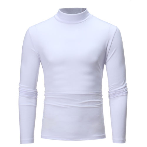 Men Casual Turtle neck Long sleeve Cotton Top   T     shirt   man's   T  -  shirt   Cloth