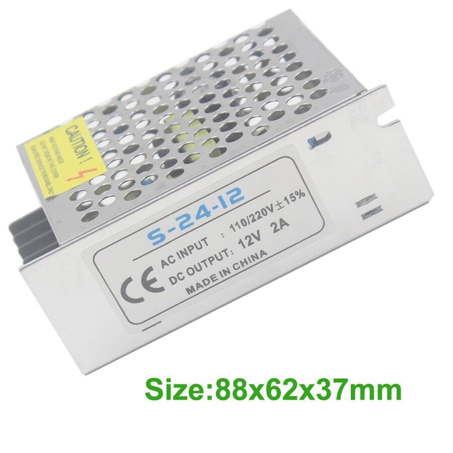 RiRi Sarà 2A 3A 5A 10A 12 V trasformatore di illuminazione Piccolo Volume Singolo 12 volt Uscita di Commutazione di alimentazione per luce di Striscia del LED