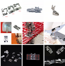 цены New Hot Domestic Sewing Machine Accessories Presser Foot Feet Kit Set Hem Foot Spare Parts For Brother Singer Janome 1PCS