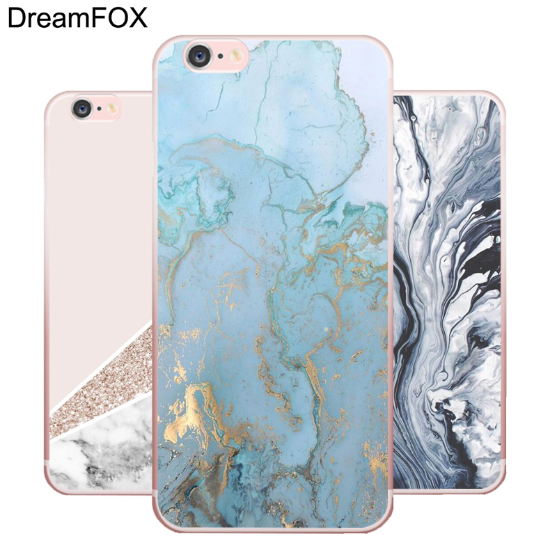 DREAMFOX L160 Fashion Marble Soft TPU Silicone Case Cover For Apple iPhone X XR XS Max 8 7 6 6S Plus 5 5S SE 5C 4 4S in Fitted Cases from Cellphones Telecommunications